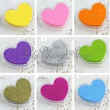 Candy Heart-Shape Ink Pad Oil Based Fabric Paper Rubber Stamp Print DIY 12 Color