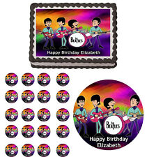 BEATLES  Edible Cake Topper Cupcake Image Decoration Birthday