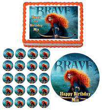 BRAVE Edible Cake Topper Cupcake Image Decoration Birthday Party