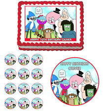 REGULAR SHOW Edible Cake Topper Cupcake Image Decoration Birthday Party