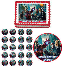 AVENGERS Edible Cake Topper Cupcake Image Decoration Birthday Party