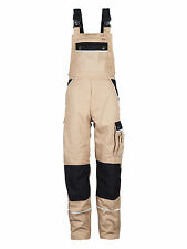 TMG Mens Army Military Work Bib and Brace Dungarees Overalls In Khaki