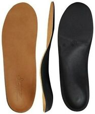 Powerstep Signature Leather Orthotic Supports Full Length Insoles Shoes Shock