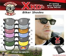 X - KD's 1012 Black Frame / Blue Lens Sunglasses XKD ASOTV Sons of Anarchy