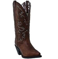 "Laredo Women's 12"" Access Goat Skin Wide Calf Western Cowboy Cowgirl Boots 51078"