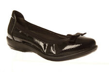 Ladies Shoes Grosby Hillary Black Patent Comfort Work Ballet Flat Size 6-11 Styl