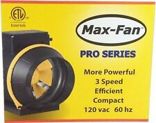 Can Fan Max Fan PRO SERIES 3-Speed - inline air exhaust blower hydro 120v