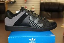 Adidas Bankment Evolution Black Charcoal Grey Low Tops G04933 Brand New in Box