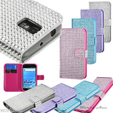 For Samsung Galaxy S2 T989 T-Mobile Flip Cover Pouch Diamond Card Wallet Case