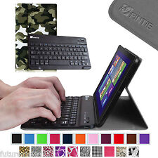 Slim Leather Cover Stand Case + Bluetooth Keyboard for Dell Venue 8 Pro Tablet