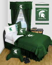 Michigan State Spartans Locker Room Comforter and Sheet Set Combo - 003603-Combo