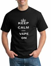 KEEP CALM and VAPE ON T-Shirt Vaporizer Vaping Smoker Funny Men's Tee Shirt
