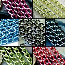 Color Plated Aluminum Curb Link Chain jewelry making chain DIY findings  (10ft)