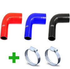 New Silicone 90 Degree Elbow Hose Silicone Pipe Bend Water Air + 2 Clips to Fit