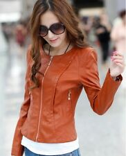 2014 new fashion women's ladies short paragraph Slim leather jacket locomotive