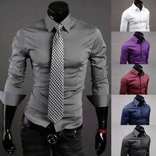 BIG SALE! New Men's Stylish Slim Comfort Button Front Formal Shirts Size S-XL