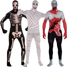 Mens Bodysuit Fancy Dress Costume Halloween New Outfit Zentai Horror Gimp Ladies