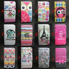 Owl Design Wallet Leather Skin Flip Case Cover For Samsung Galaxy S3 Mini i8190