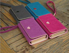 Fashion Leather Wallet Purse Phone Case for iPhone 4S/5S Samsung Galaxy S3/S4  b