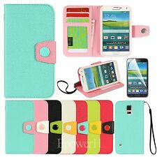 Card Wallet Flip Phone Case PU Leather Cover for Samsung Galaxy S5 i9600