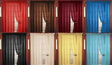 SHEER VOILE WINDOW CURTAIN PANEL, GREAT QUALITY, BEAUTIFUL SHEER CURTAIN - 55X84