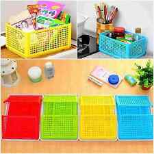 Foldable Kitchen Desktop Comestic Food Storage Basket Box With Lid Baskets 1PCS