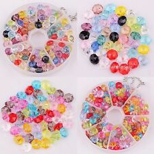 !! 80pcs/100pcs Assorted Color Faceted Acrylic Rondelle Loose Spacer Beads 8/6mm