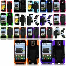 Color T-Stand Impact Hybrid Hard Case Cover With Holster For ZTE Majesty Z796C