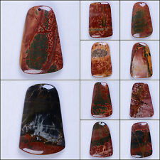 48 to 56mm Red Multi-color picasso jasper trapezo pendant bead *lot of choices*