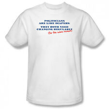 Politicians Are Like Diapers The Both Need Changing Ladies Jr Men T-shirt Top