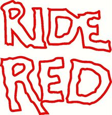 ride red style 2 vinyl decal window or bumper sticker honda atv cbr atc