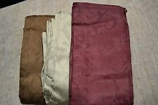 JCP DEANNA SOLID tone on tone PRINT THERMAL Pinch Pleated Drapery Pair Curtains