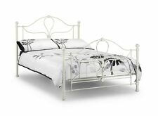 Happy Beds Paris Metal Bed Stone White Classic Design Bedroom Furniture New