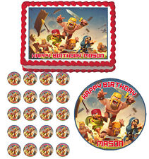 CLASH OF CLANS Edible Cake Topper Cupcake Image Decoration Party
