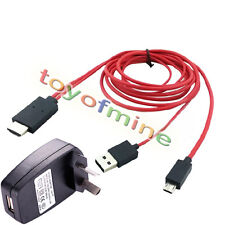 AU USB Charger +MHL MicroUSB to HDMI HD TV Cable for Samsung Galaxy S5 S4 Note 3