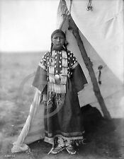 1905 DAKOTA INDIAN NATIVE GIRL AT TIPI PHOTOGRAPH Rosa Lame Dog Largest Sizes