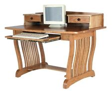Amish Royal Mission Computer Desk Topper Home Office Furniture Solid Wood