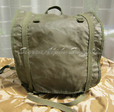 FRENCH ARMY SURPLUS OLIVE GREEN COTTON CANVAS/SYNTHETIC BACK PACK,PATROL SACK