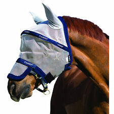 Rambo Fly Mask Plus - silver/navy
