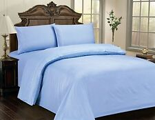 "LUXURIOUS CHECKERED SOFT 100% COTTON SATEEN SHEET SET, 15"" DEEP, 10 COLORS, BL"