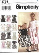 UNCUT Vintage Simplicity Sewing Pattern Girls Special Occasion Dress Easter 8754