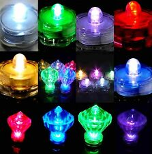 4 10 20 30 40 50 60 Bright LED Floral Tea Light Submersible Floral Party Wedding