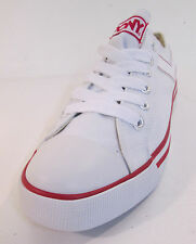Unisex White Pony Canvas Trainers Style Shooter Lo