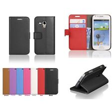 7Colors Leather Flip Wallet Case For Samsung Galaxy Trend Plus GT-S7580 S7582 e