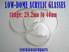 WATCH GLASS crystal face lens Acrylic plastic 28.2-40mm, BUY 1 GET 1 HALF PRICE