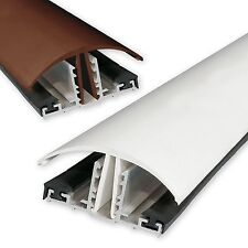 Timber Supported Snap Down Glazing Bar in **White** For 10mm -25mm Polycarbonate