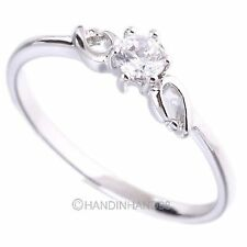 Elegant Jewelry Wedding Party 14K White Gold Plated/Gold Plated Ring US 5.25-9