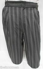 20/21 Boy's Gray Hickory Striped Morning Trousers Tux Pants Victorian Dickens