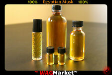 100% PURE AND THICK EGYPTIAN MUSK Fragrance Oil / Body Oil 5/8 Dr, 1/3oz - 8oz