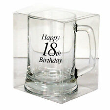 Beer Mug Stein Glass Birthday Ale Drinkware 18th 21st 18 21 30 40 50 60 70 80